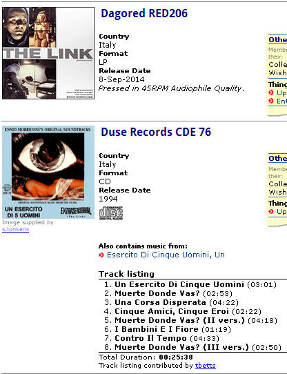 Dagored RED206 ,Duse Records CDE 76